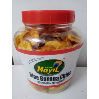 Ripe banana chips 250gm(bottle)