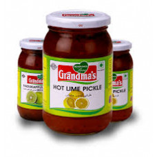 GRANDMAS HOT LIME RED PICKLE 400Gm